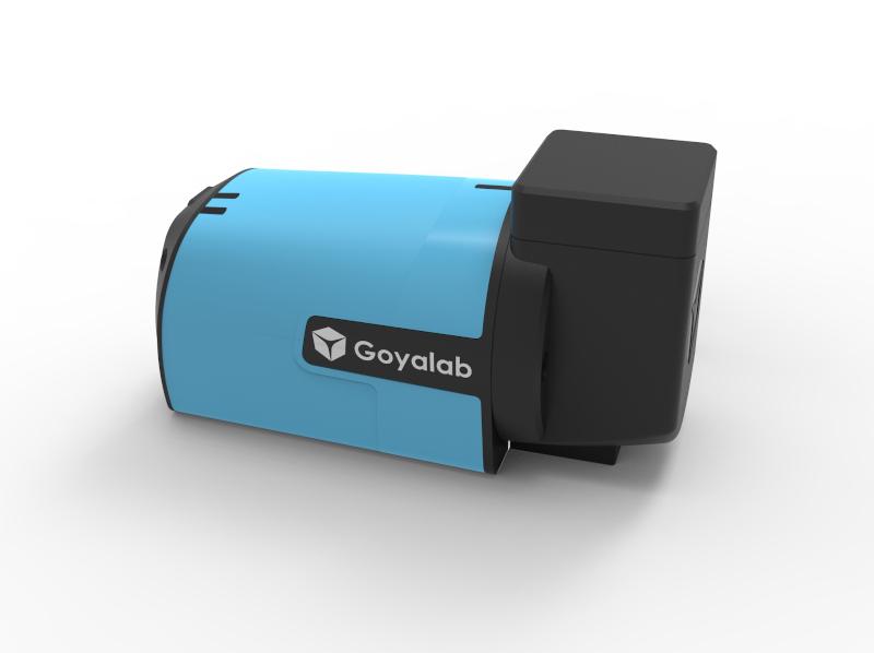 IndiGo spectrophotometre cuvette pour analyse absorption et fluorescence vue latérale