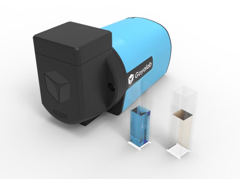 IndiGo spectrophotomètre cuvette pour analyse absorption, transmission et fluorescence d'un liquide contenu dans une cuvette standard