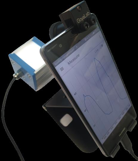 spectre absorption gemme avec le GoSpectro